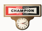 1930S CHAMPION SPARK PLUGS LIGHT-UP CLOCK