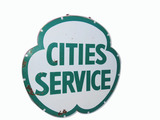 1950S CITIES SERVICE PORCELAIN SIGN