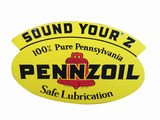 1950 PENNZOIL TIN SIGN