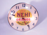 1950S NEHI ORANGE LIGHT-UP CLOCK