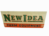 1950 NEW IDEA FARM EQUIPMENT TIN PAINTED SIGN