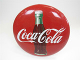 1950S COCA-COLA PORCELAIN BUTTON SIGN