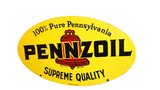 1963 PENNZOIL MOTOR OIL TIN SIGN