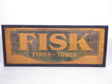 EARLY 1930S FISK TIRES-TUBES TIN-PAINTED SIGN