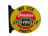 1930S GENUINE CHEVROLET PARTS TIN FLANGE SIGN
