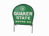 ADDENDUM ITEM - VINTAGE QUAKER STATE MOTOR OIL TIN CURB SIGN