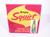 1962 SQUIRT TIN SIGN