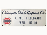 1950S CHAMPLIN OIL & REFINING COMPANY OIL WELL LEASE SIGN