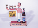 LATE 1950S-EARLY '60S PABST BLUE RIBBON BEER THREE-DIMENSIONAL CAST-METAL DISPLAY PIECE