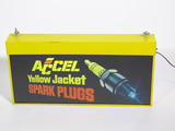 VINTAGE ACCEL YELLOW JACKET SPARK PLUGS LIGHT-UP SIGN