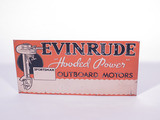 1930S EVINRUDE OUTBOARD MOTORS EMBOSSED TIN SIGN
