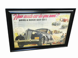 1938 BUICK DEALER ADVERTISING DISPLAY POSTER