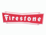 VINTAGE FIRESTONE TIRES TIN SIGN