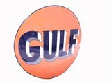 LARGE 1940S GULF OIL PORCELAIN SIGN
