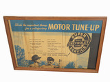 CIRCA 1930S-40S CHEVROLET MOTOR TUNE-UP CARDBOARD DISPLAY SIGN