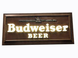 VINTAGE BUDWEISER BEER METAL-BODIED LIGHT-UP SIGN