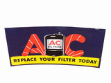 1938 AC OIL FILTER TIN SIGN