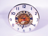 EARLY 1950S MONARCH FINER FOODS CLOCK