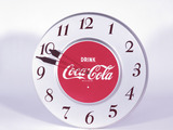 EARLY 1950S COCA-COLA TIN ELECTRIC CLOCK