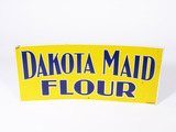 1930S-40S DAKOTA MAID FLOUR EMBOSSED TIN SIGN