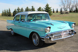 1957 CHEVROLET 210 CUSTOM 4-DOOR POST