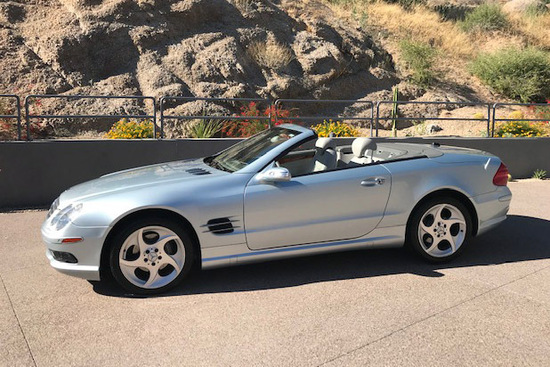 2005 MERCEDES-BENZ SL500 ROADSTER