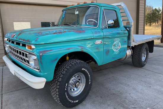 1965 FORD F-250 CUSTOM FLATBED PICKUP