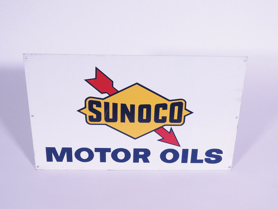 1960S SUNOCO MOTOR OILS TIN SIGN