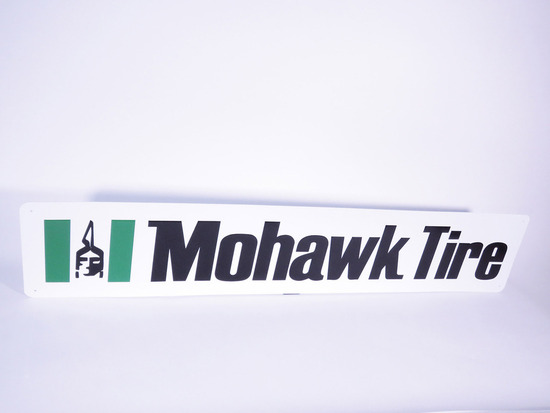 VINTAGE MOHAWK TIRES EMBOSSED TIN SIGN