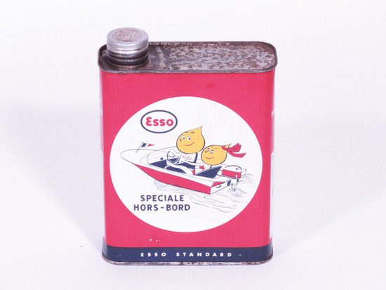 LATE 1950S-EARLY '60S ESSO OUTBOARD MOTOR OIL TIN