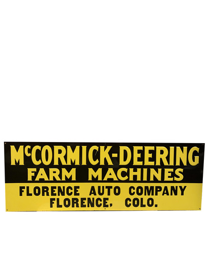 1930S MCCORMICK-DEERING FARM MACHINES EMBOSSED TIN SIGN