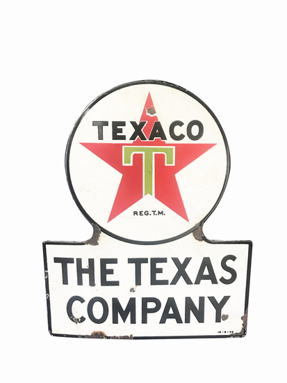 1939 TEXACO PORCELAIN SIGN