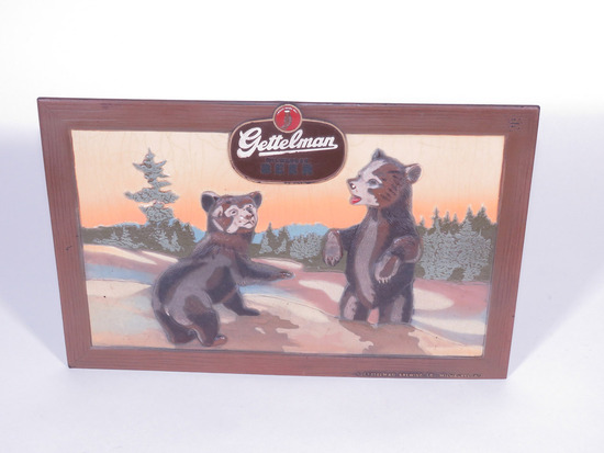 1940S GETTELMAN BEER PRESSED-BOARD SIGN