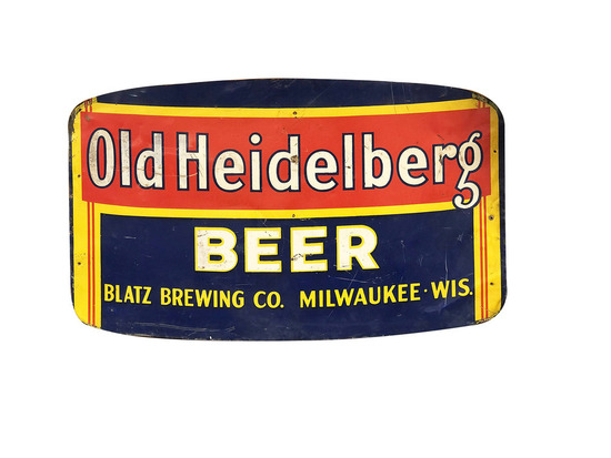 CIRCA 1930S-40S OLD HEIDELBERG BEER TIN SIGN