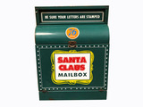 1950S-60S UNION 76 OIL METAL SANTA CLAUS MAILBOX