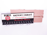 1950S BOWES SEAL FAST BATTERY CABLES DISPLAY RACK