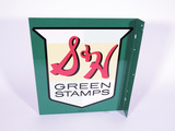 1963 S&H GREEN STAMPS TIN FLANGE SIGN