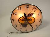 CIRCA EARLY 1950S NUGRAPE SODA LIGHT-UP CLOCK