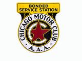 CHICAGO MOTOR CLUB PORCELAIN SIGN