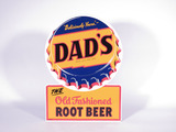 LATE 1940S DAD'S OLD FASHIONED ROOT BEER TIN SIGN