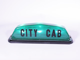 1950S CITY CAB LIGHT-UP TAXI ROOF-MOUNT MARQUEE SIGN
