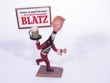 1950S BLATZ BEER THREE-DIMENSIONAL CAST-METAL DISPLAY PIECE