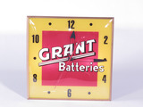 EARLY 1960S GRANT BATTERIES LIGHT-UP CLOCK