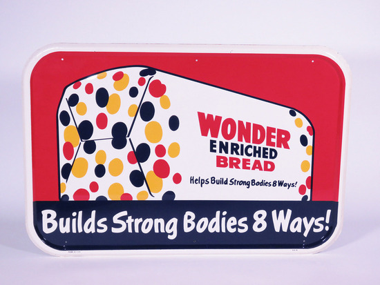 1950S WONDER ENRICHED BREAD TIN SIGN