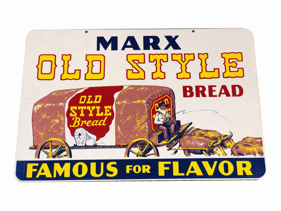 1950S MARX OLD STYLE BREAD TIN SIGN