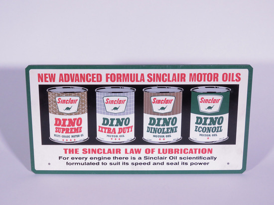 1960S SINCLAIR MOTOR OIL TIN SIGN