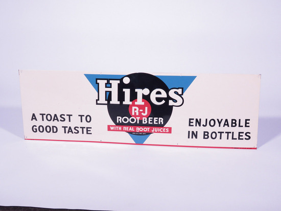 1940S HIRES ROOT BEER TIN SIGN