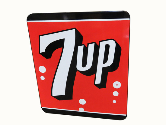 1950S 7UP SODA PORCELAIN SIGN