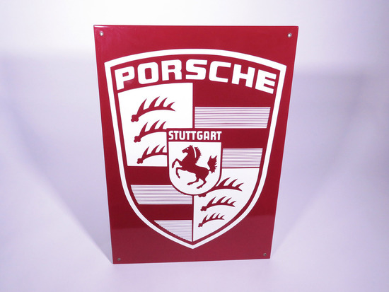 LATE 1950S-EARLY 1960S PORSCHE PORCELAIN SIGN