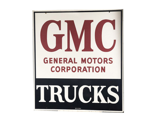 1950S GMC TRUCKS PORCELAIN SIGN
